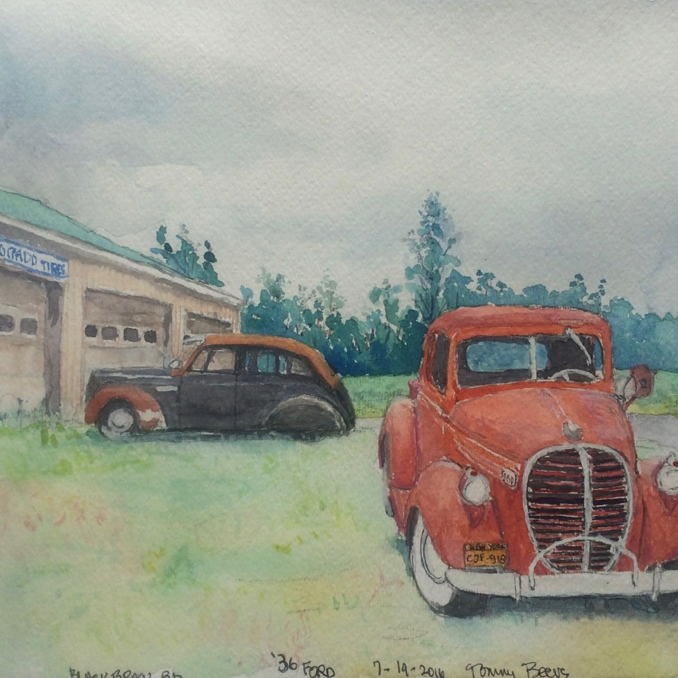 old cars and trucks – Painter on a Bicycle